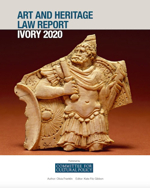 Art and Heritage Law Report Ivory 2020 Cover